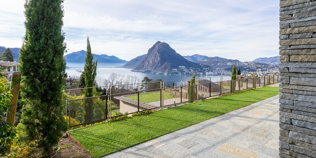 LUGANO Castagnola wonderfully bright 5,5 rooms apartment lake and city view